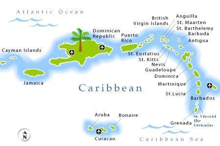 Wirtualna podróż po wyspach karaibskich